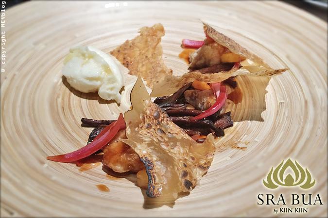 เนื้อตุ๋นและเนื้อลูกวัวผัดเปรี้ยวหวาน (Braised Beef with Sweetbreads Sweet & Sour Pineapple)