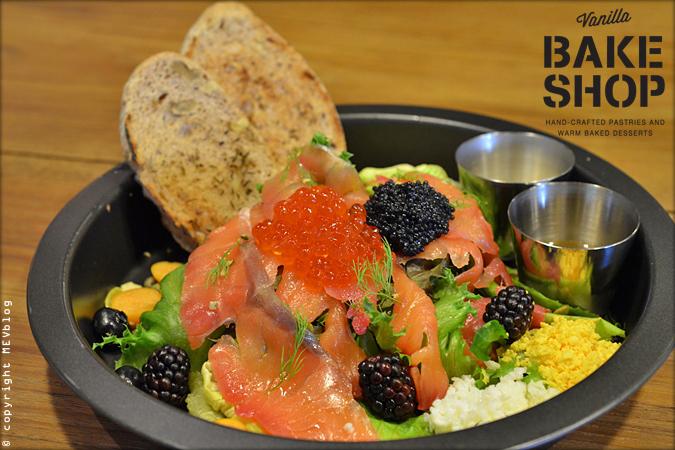 Gravlax Salmon Salad @Vanilla Bakeshop