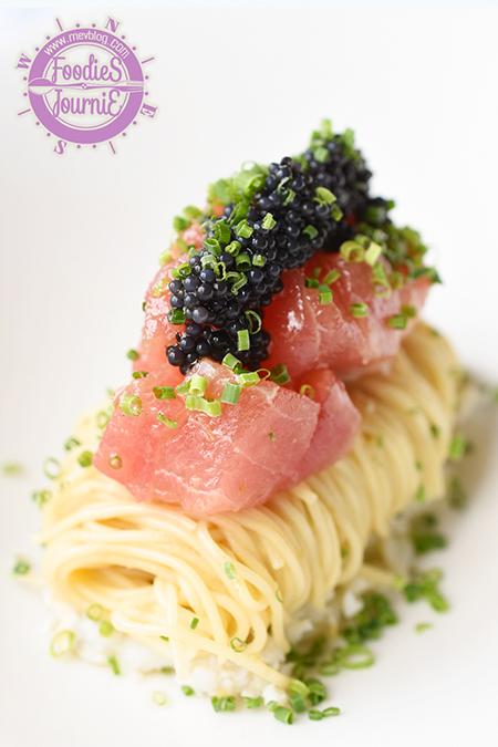 Yuzu tuna cold capellini