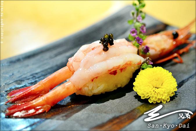 Amaebi Sushi (140 บาท)